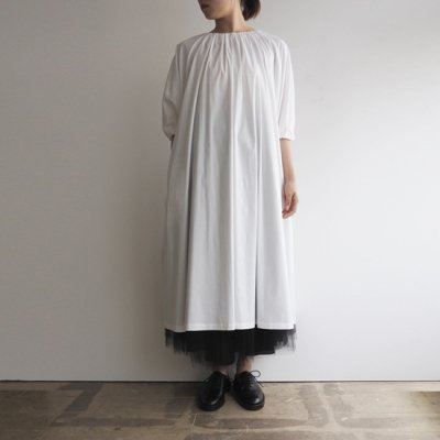 <img class='new_mark_img1' src='https://img.shop-pro.jp/img/new/icons20.gif' style='border:none;display:inline;margin:0px;padding:0px;width:auto;' />08sircus Stretch broad gather dress ストレッチブロードギャザードレス