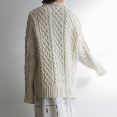 <img class='new_mark_img1' src='https://img.shop-pro.jp/img/new/icons20.gif' style='border:none;display:inline;margin:0px;padding:0px;width:auto;' />TENNE HANDCRAFTED MODERN ARAN KNIT PULLOVER