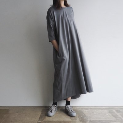 <img class='new_mark_img1' src='https://img.shop-pro.jp/img/new/icons20.gif' style='border:none;display:inline;margin:0px;padding:0px;width:auto;' />08sircus Jersey crew long dress コットンジャージクルーネックロングドレス