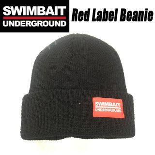SWIMBAIT UNDERGROUND Red Label Beanie<img class='new_mark_img2' src='//img.shop-pro.jp/img/new/icons1.gif' style='border:none;display:inline;margin:0px;padding:0px;width:auto;' />
