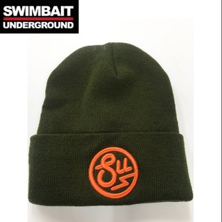 SWIMBAIT UNDERGROUND Circle Logo Beanie Ouive<img class='new_mark_img2' src='//img.shop-pro.jp/img/new/icons1.gif' style='border:none;display:inline;margin:0px;padding:0px;width:auto;' />