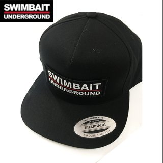 SWIMBAIT UNDERGROUND Logo Lock Up Patch 5 Panel Snapback Black<img class='new_mark_img2' src='https://img.shop-pro.jp/img/new/icons1.gif' style='border:none;display:inline;margin:0px;padding:0px;width:auto;' />