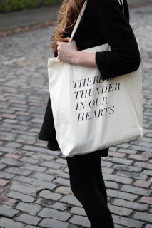 FIELDGUIDED | THUNDER IN OUR HEARTS (BLACK) | トートバッグ | TOTE BAG