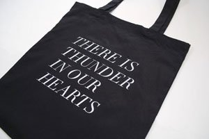 FIELDGUIDED | THUNDER IN OUR HEARTS (BLACKxWHITE) | トートバッグ | TOTE BAG