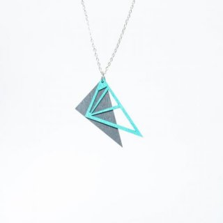 nicenicenice | DIAMOND NECKLACE (gray-turquoise) | ネックレス