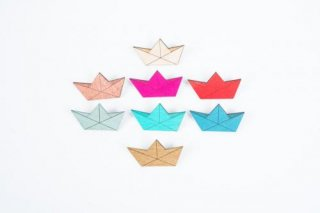 nicenicenice | PAPERBOAT BROOCH | ブローチ (turquoise)