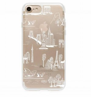 RIFLE PAPER CO. | CLEAR CITY TOILE | iPhone 7 ケース