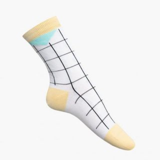 nicenicenice | NICE SOCKS GRID (yellow) | ソックス