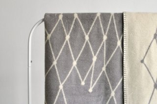 bastisRIKE | THE GRID - COTTON BLANKET (light grey) | ブランケット