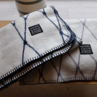 bastisRIKE | THE GRID - COTTON BABY BLANKET (navy) | ベビーブランケット【75x100cm】