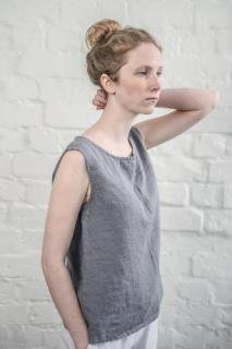 not PERFECT LINEN | LINEN TANK TOP (dark grey) | タンクトップ | レディース UK8/S