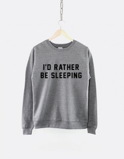 RESILIENCE | I'D RATHER BE SLEEPING CREW NECK SWEATSHIRT (heather grey) | スウェット