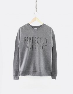 RESILIENCE | PERFECTLY IMPERFECT CREW NECK SWEATSHIRT (heather grey) | スウェット