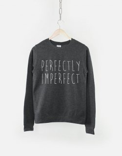 RESILIENCE | PERFECTLY IMPERFECT CREW NECK SWEATSHIRT (heather black) | スウェット