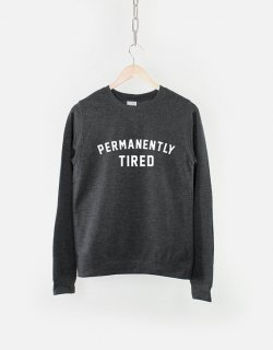 RESILIENCE | PERMANENTLY TIRED CREW NECK SWEATSHIRT (heather black) | スウェット