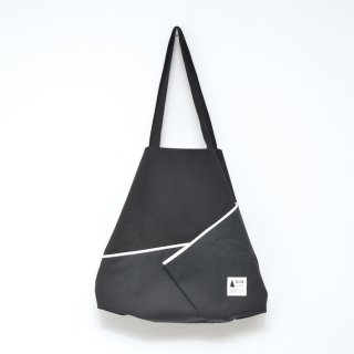 kick FLAG | flag bag / fold(black) | TOTE BAG