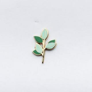 HANDMADE SAM*MADE | EUCALYPTUS BRANCH LAPEL PIN (green) | ピンバッジ