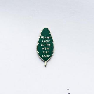 HANDMADE SAM*MADE | PLANT LADY LAPEL PIN (green) | ピンバッジ