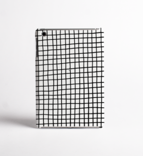 DESSI DESIGNS | CROSS STRIPES / GRID (white) | iPad mini 4 ケース