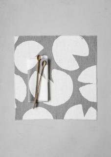 FINE LITTLE DAY | WATER LILIES NAPKINS 2PACK - GREY/WHITE (no.81100-2) | ナプキン2枚セット