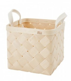 VERSO DESIGN | LASTU BIRCH BASKET M | バスケット (white handles)