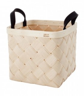 VERSO DESIGN | LASTU BIRCH BASKET M | バスケット(grey handles)