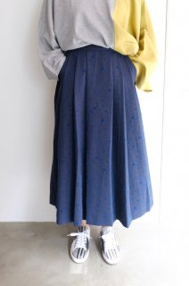 "【SALE 30%オフ】rikolekt | ""memoryscapes""SKIRT (navy) Mサイズ 