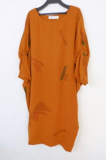 【SALE 30%オフ】spoken words project | Short sleeve O/P (leaf terracotta) | ワンピース