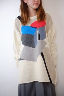 【SALE 30%オフ】spoken words project | Jacquardknit (cube) | トップス