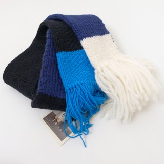 【SALE 30%オフ】spoken words project | muffler (black×navy) | マフラー