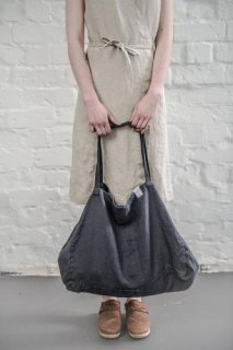 not PERFECT LINEN | LARGE LINEN TOTE BAG (charcoal black) | トートバッグ