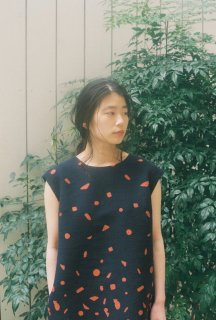 "【在庫残り1】rikolekt | ""snowscape"" DRESS (navy) 