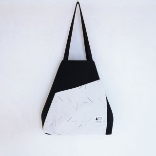 kick FLAG | flag bag(black×white)| TOTE BAG