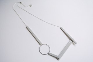ilocami | BLOCK NECKLACE (gray) | ネックレス