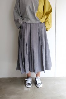 "【SALE 30%オフ】rikolekt | ""memoryscapes""SKIRT (gray) Sサイズ 