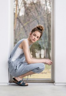 not PERFECT LINEN | LOOSE LINEN JUMPSUIT (light grey) | UK8