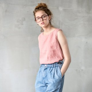 not PERFECT LINEN | LINEN BLOUSE (blossom-peach) | UK8/S | タンクトップ