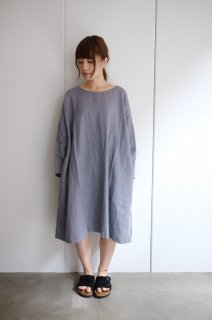not PERFECT LINEN | Oversized loose fitting linen dress (dark grey)