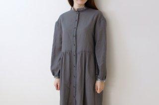 canako inoue | 「祈り」ブラウスワンピース (charcoal-silver) | ワンピース