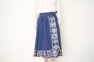 canako inoue | 「祈り」スカート (navy-silver) | スカート