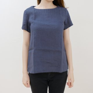 not PERFECT LINEN | BASIC LINEN T SHIRT (charcoal) | シャツ | レディース UK8/S
