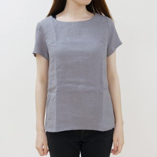 not PERFECT LINEN | BASIC LINEN T SHIRT (dark grey) | シャツ | レディース UK8/S