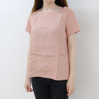 not PERFECT LINEN | BASIC LINEN T SHIRT (blossom peach) | シャツ | レディース UK8/S