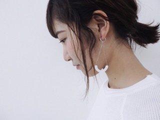 ilocami | S-HOOP EARRING (white) | イヤリング