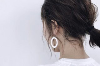 ilocami | N-HOOP PIERCE (white) | ピアス