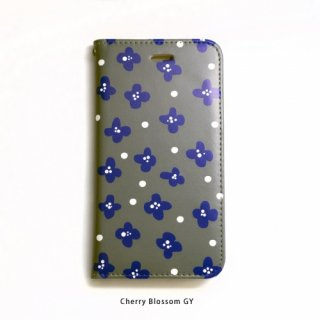 SCANDINAVIAN PATTERN COLLECTION | ヴィクトリア・ハムベリエ | Cherry blossom (gray) | iPhone 6-6s-7-8 全対応ケース