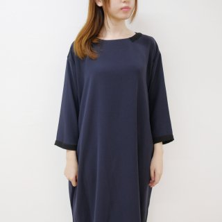 WHYTO. | cocoon dress (navy) | ワンピース