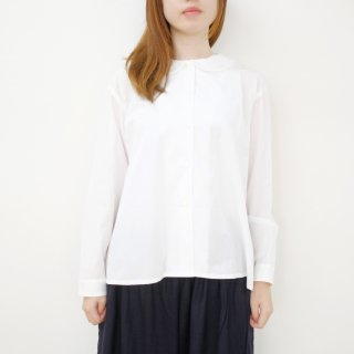 STAMP AND DIARY | フラットカラーブラウス (white) | シャツ