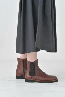 Dell' Arte (デラールテ)   side gore zip boots (brown)   サイドゴアジップブーツ 38 (24cm)