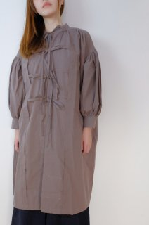 the last flower of the afternoon | 更待のsmock dress (charcoal) | ワンピース